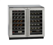 "Modular 3000 Series 36"" Wine Captain® Model With Stainless Frame (lock) Finish and Double Doors Door Swing"