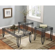 3PC BLACK MATRIX COFFEE TABLE BASE