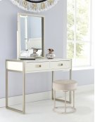 Swanson Non-swivel Vanity Stool - White Product Image