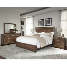 Chrystelle King Bedroom Set: King Bed, Media Chest & Nightstand