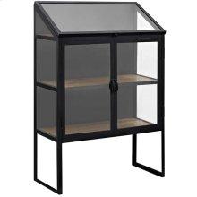 Settle Glass Cabinet in Black