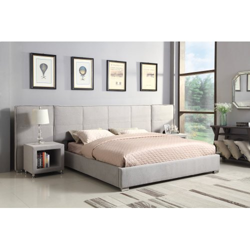 Emerald Home Cazelle Upholstered Bed Dove Gray B133-10-3pcset1-k