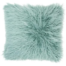 "Faux Fur Bj101 Celadon 17"" X 17"" Throw Pillows"