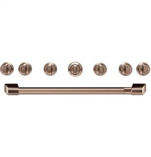 "Café 36"" Brushed Copper Handle & Knob Set for Pro Range and Rangetop"