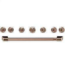 """Café 36"""" Brushed Copper Handle & Knob Set for Pro Range and Rangetop"""