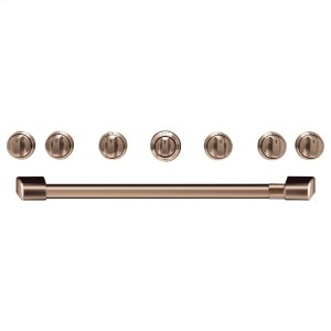 "Cafe36"" Brushed Copper Handle & Knob Set for Pro Range and Rangetop"