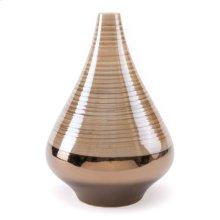 Dual Short Vase Brown & Pearl