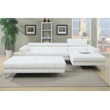 Pure White Modern Chaise Sectional
