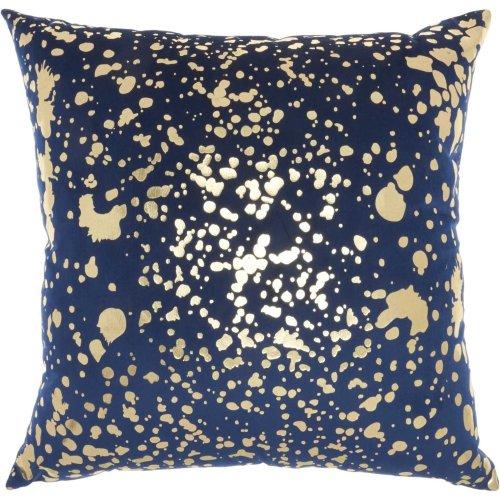 "Luminescence Qy168 Navy Gold 18"" X 18"" Throw Pillows"