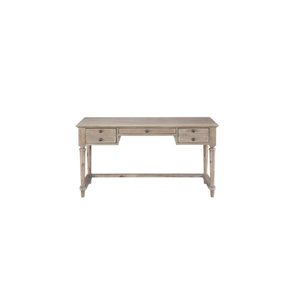 Writing Desk with Three Working Drawers, Brown