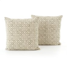 Faded Green Print Pillow, Set of 2