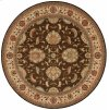 LIVING TREASURES LI04 BRN ROUND RUG 7'10'' x 7'10''