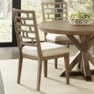 Mirabelle - Curved Lattice Back Upholstered Chair - Ecru Finish Product Image