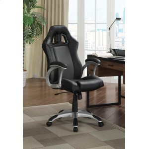 CoasterContemporary Black and Grey Office Chair