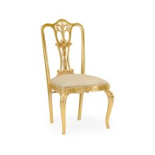 Gilded 18Th Century Style Dining Chair (Side)