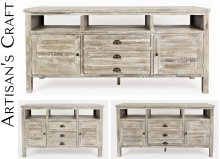 """Artisan's Craft 60"""" Media Console - Washed Grey"""