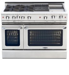 "48"" eight Sealed Burner, all gas, manual clean range, Natural Gas"