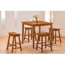 5-Piece Pack Counter Height Set, Oak Product Image