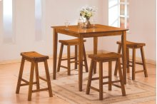 5-Piece Pack Counter Height Set, Oak