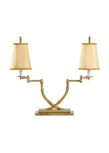 Crossed Bamboo Desk Lamp