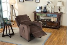 Denali Brown Fabric Recliner Chair