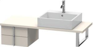 Vero Low Cabinet For Console Compact, Taupe Matt (decor)