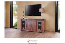 "70"" TV Stand w/4 Doors & Shelves"