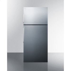 SummitEnergy Star Certified Counter Depth Refrigerator-freezer With Stainless Steel Doors, Platinum Cabinet, and Icemaker