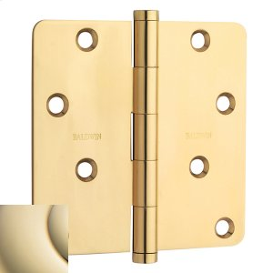 """Lifetime Polished Brass 1/4"""" Radius Corner Hinge Product Image"""