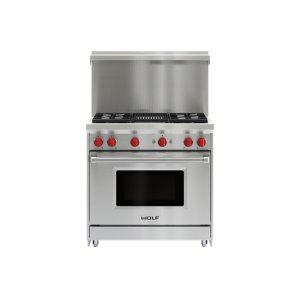"Wolf36"" x 20"" Gas Range Riser With Shelf"