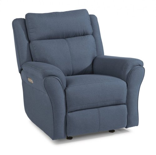 Pike Fabric Power Gliding Recliner with Power Headrest
