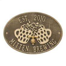 Beers and Cheers Personalized Plaque - Antique Brass