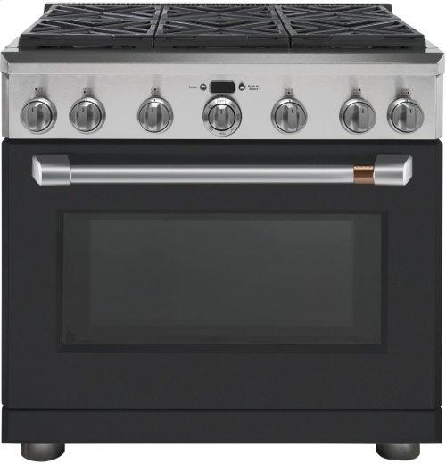 "Café 36"" Dual Fuel Professional Range with 6 Burners (Natural Gas)"