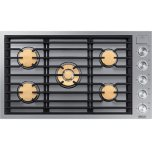 """DacorModernist 36"""" Gas Cooktop, Silver Stainless Steel, Natural Gas"""