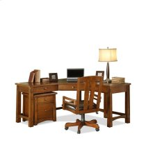 Craftsman Home Corner Desk Americana Oak finish