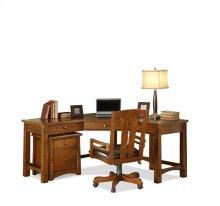 Craftsman Home Corner Desk Americana Oak finish