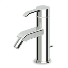 "Single lever bidet mixer with aerator. 1 1/4"" pop-up waste, flexible tails."