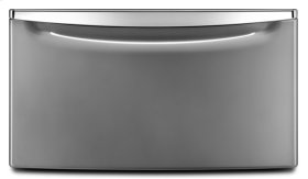 """15.5"""" Laundry Pedestal with Chrome Handle and Storage Drawer - LU"""