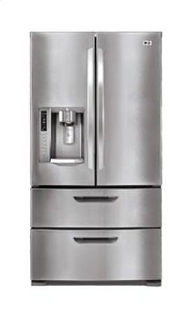 4-Door French Door Refrigerator with Auto-Opening Freezer Doors
