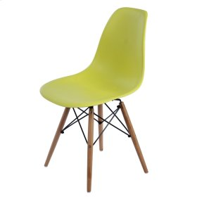 Allen Molded PP Chair Maple Dowel Legs, Lime