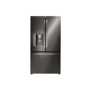 24 cu. ft. French Door Counter-Depth Refrigerator - BLACK STAINLESS STEEL