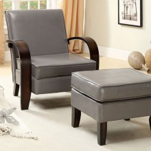 Gossau Accent Chair W/ Ottoman