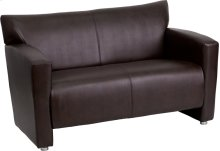 HERCULES Majesty Series Brown Leather Loveseat