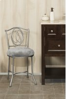 Emerson Vanity Stool - Silver Product Image