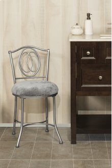 Emerson Vanity Stool - Silver