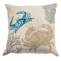 Embroidered Crab Pillow. Product Image