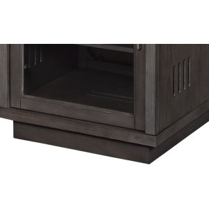 Store all your AV components in this beautiful audio cabinet with Gray tint...