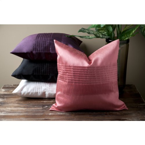 """Solid Pleated HH-023 22"""" x 22"""" Pillow Shell with Polyester Insert"""