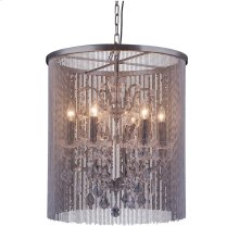 "1131 Brooklyn Collection Chandelier D:22"" H:24.5"" Lt:6 Dark Grey Finish (Royal Cut Crystals)"