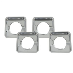 AMANASquare Burner Bowls - Chrome - 4 Pack